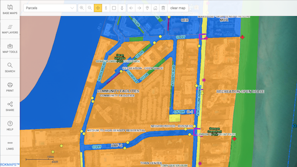 The City of Sunny Isles Beach offers a GIS Maps Application.