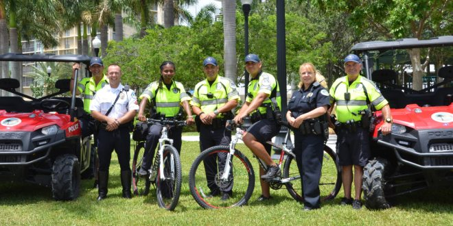 Photo: Police with ATVs and bicycles