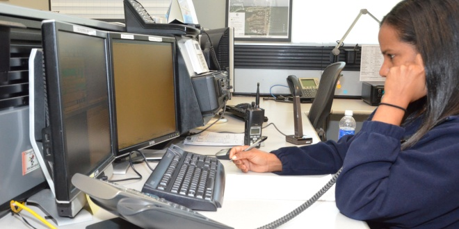 Photo: Police dispatch operator