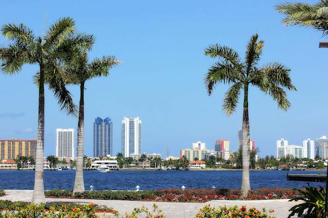 #12 October - View From Biscayne Bay - Beatrix Csinger