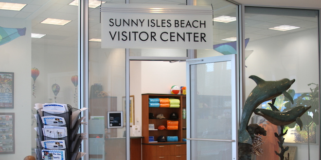 Entrance to the Sunny Isles Beach Visitor Center.