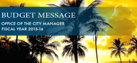 Budget Message for Fiscal Year 2016 - 2016, Office of the City Manager