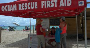 Our Ocean Rescue team giving tips on ocean safety during Water Safety Month.