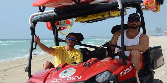 Photo: Sunny Isles Beach Life Guards in an ATV