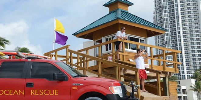 Photo: Lifeguards on watch at Sunny Isles Beach Tower