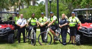 The City Police Patrol poses on their bicycles.