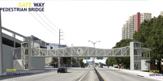 Ordinaire Construction Underway For The Gateway Pedestrian Bridge At 163rd Street.