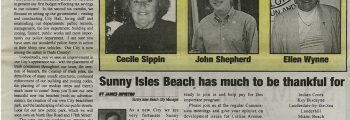 Sunny Isles Beach Sun Community Newspaper Published