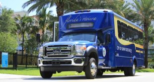The Sunny Isles Beach Shuttle Service vehicle.