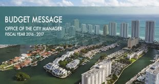 Aerial Photo of Sunny Isles Beach with Budget Message Text overlayed on top.