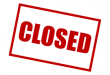 Image of a closed sign.