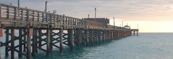 Hurricane Wilma Damages the Historic Newport Fishing Pier