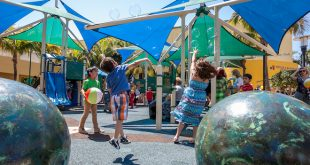 Photo of children playing at Pelican Community Park.