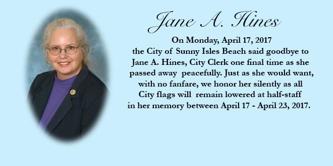 Graphic in memoriam of Jane A. Hines.