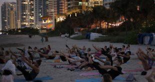 FREE Full Moon Yoga Class on the Beach in Sunny Isles Beach