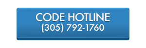 Button displaying the code hotline.