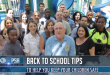 Group photo of the SIB Police chief with SIB residents relaying Back to School tips.
