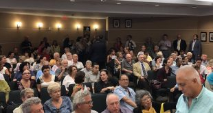 Photo of a crowd at the Town Hall Meeting with Rene Garcia.