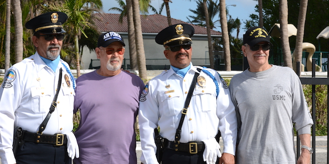 SIB Veterans posing with SIB Police Officers
