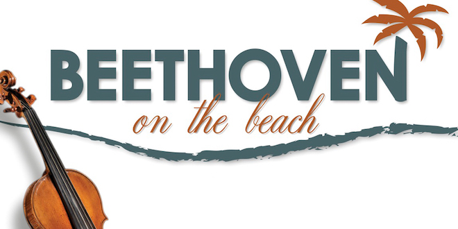 Beethoven on the Beach graphic with violin.