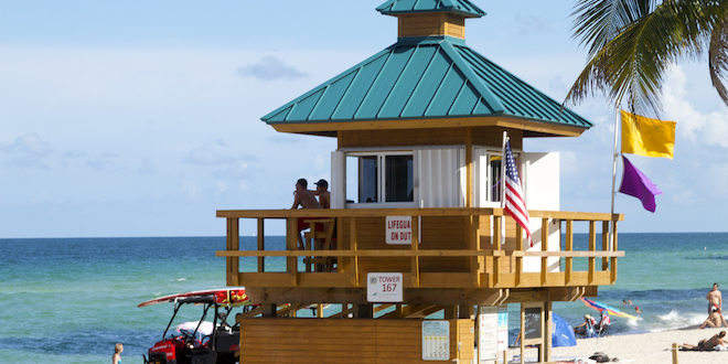 Photo: Lifeguard Tower at Sunny Isles Beach