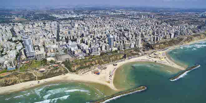 Photo: Arial photo of Netanya beach lagoons