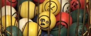 Close up of Bingo Balls