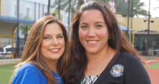 Assistant City Manager, Susan Simpson, and Cultural and Community Services Director, Sylvia Flores, at Pelican Community Park.