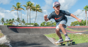 Photo: Skateboarder at Haulover Park Skate Park