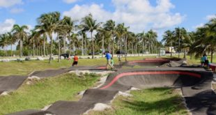 Overview of the Skate Park and Pump Track at Haulover Park