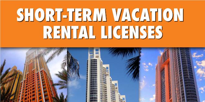 Short Term Vacation Rental Licenses. Three condominiums in Sunny Isles Beach.