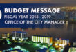 Budget Message Fiscal Year 2018-2019. Office of the City Manager