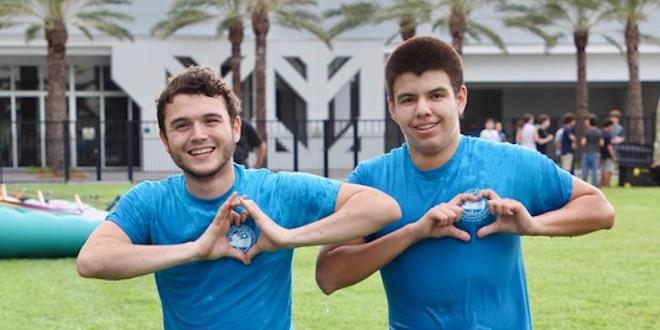 Two Sunny Isles Beach high school volunteers