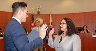 Commissioner Jeniffer Viscarra is sworn in at November Commission Meeting