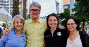 """Sunny Isles Beach elected officials. Pictures Left to Right: Vice Mayor Dana Goldman, Mayor George """"Bud"""" Scholl, Commissioner Larisa Svechin and Commissioner Jeanette Gatto."""