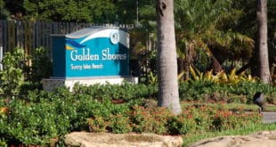 Golden Shores Sign