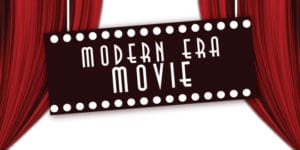 Modern Era Movie curtains and sign