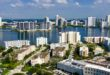 Aerial view of condominiums and the Intracoastal in Sunny Isles Beach.