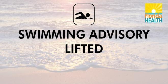 Swimming Advisory Lifted