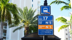 SIBshuttle stop sign number 17