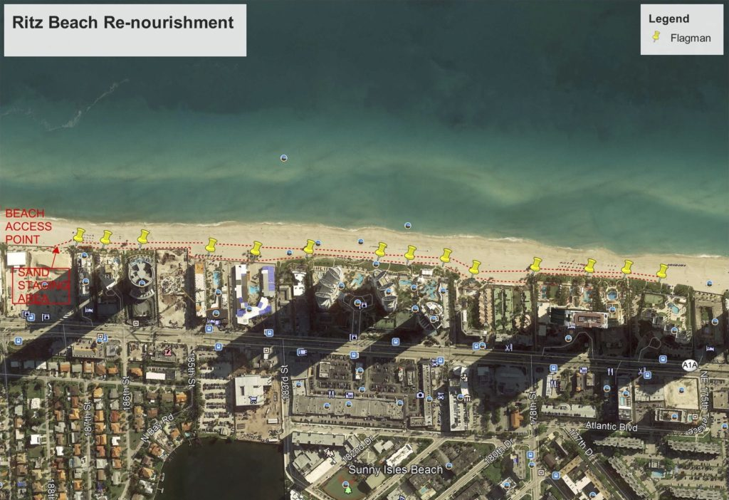 MOT plans for Ritz Sand Beach Renourishment Project