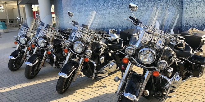Sunny Isles Beach Police motorcycles.