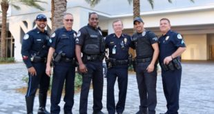 Chief Dwight Snyder and Sunny Isles Beach police officers