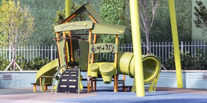Playground for young children at Samson Oceanfront Park