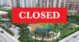 Town Center Park Closed