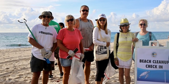 Volunteers at Beach Cleanup event