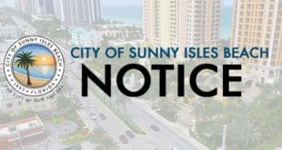 City of Sunny Isles Beach Notice