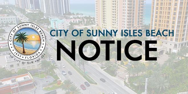 City of Sunny Isles Beach Notice