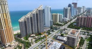 Aerial view of Collins Avenue in Sunny Isles Beach