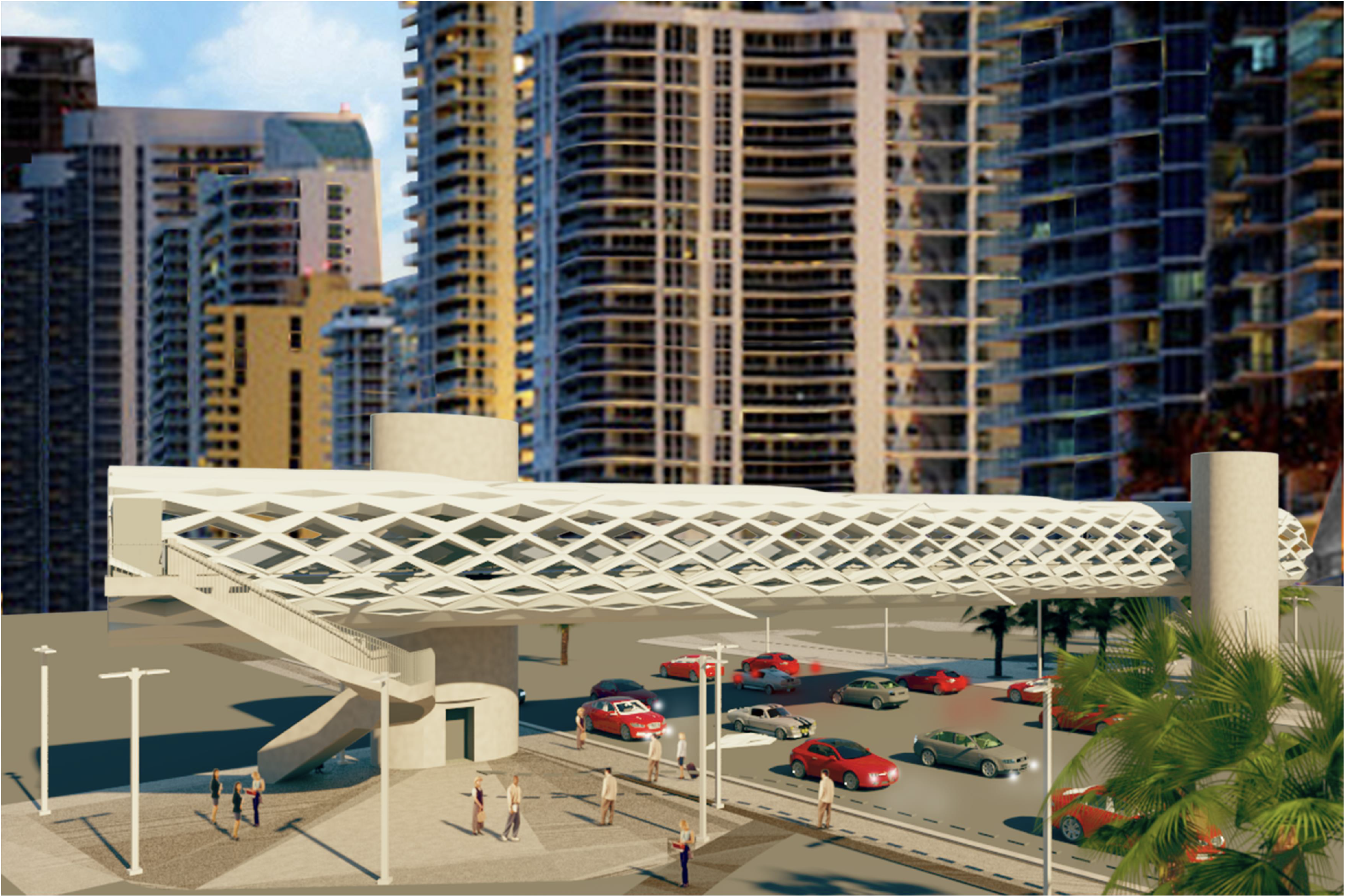 Government Center pedestrian bridge rendering